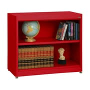 "Sandusky® Elite 36"" x 18"" x 30"" Radius Edge Steel Stationary Bookcase, Red"