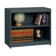 Sandusky® Elite 36in. x 18in. x 30in. Radius Edge Steel Stationary Bookcase, Charcoal