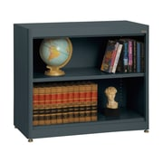 "Sandusky® Elite 36"" x 18"" x 30"" Radius Edge Steel Stationary Bookcase, Charcoal"