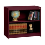 "Sandusky® Elite 36"" x 18"" x 30"" Radius Edge Steel Stationary Bookcase, Burgundy"