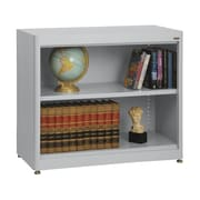 "Sandusky® Elite 36"" x 18"" x 30"" Radius Edge Steel Stationary Bookcase, Dove Gray"