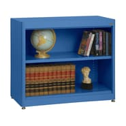 Sandusky® Elite 36in. x 18in. x 30in. Radius Edge Steel Stationary Bookcase, Blue