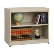 Sandusky® Elite 36in. x 18in. x 30in. Radius Edge Steel Stationary Bookcase, Putty