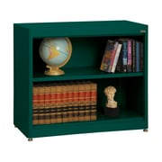 "Sandusky® Elite 36"" x 18"" x 30"" Radius Edge Steel Stationary Bookcase, Forest Green"