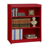 Sandusky® Elite 36in. x 18in. x 42in. Steel Radius Edge Stationary Bookcase, Red