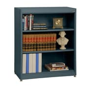 "Sandusky® Elite 36"" x 18"" x 42"" Steel Radius Edge Stationary Bookcase, Charcoal"