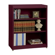 Sandusky® Elite 36in. x 18in. x 42in. Steel Radius Edge Stationary Bookcase, Burgundy