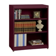 "Sandusky® Elite 36"" x 18"" x 42"" Steel Radius Edge Stationary Bookcase, Burgundy"