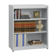 Sandusky® Elite 36in. x 18in. x 42in. Steel Radius Edge Stationary Bookcase, Dove Gray