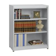 "Sandusky® Elite 36"" x 18"" x 42"" Steel Radius Edge Stationary Bookcase, Dove Gray"