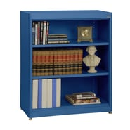 Sandusky® Elite 36in. x 18in. x 42in. Steel Radius Edge Stationary Bookcase, Blue
