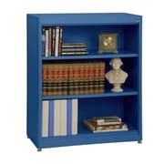 "Sandusky® Elite 36"" x 18"" x 42"" Steel Radius Edge Stationary Bookcase, Blue"