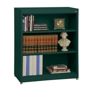 Sandusky® Elite 36in. x 18in. x 42in. Steel Radius Edge Stationary Bookcase, Forest Green
