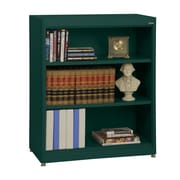 "Sandusky® Elite 36"" x 18"" x 42"" Steel Radius Edge Stationary Bookcase, Forest Green"