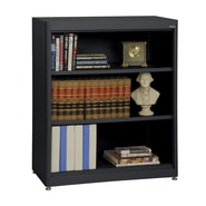 Sandusky® Elite 36in. x 18in. x 42in. Steel Radius Edge Stationary Bookcase, Black
