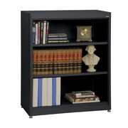 "Sandusky® Elite 36"" x 18"" x 42"" Steel Radius Edge Stationary Bookcase, Black"