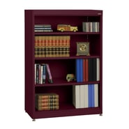Sandusky® Elite 36in. x 18in. x 52in. Steel Radius Edge Stationary Bookcase, Burgundy