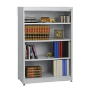 "Sandusky® Elite 36"" x 18"" x 52"" Steel Radius Edge Stationary Bookcase, Dove Gray"