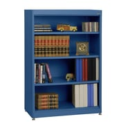 Sandusky® Elite 36in. x 18in. x 52in. Steel Radius Edge Stationary Bookcase, Blue