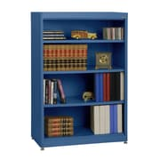 "Sandusky® Elite 36"" x 18"" x 52"" Steel Radius Edge Stationary Bookcase, Blue"