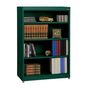 "Sandusky® Elite 36"" x 18"" x 52"" Steel Radius Edge Stationary Bookcase, Forest Green"
