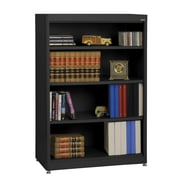 Sandusky® Elite 36in. x 18in. x 52in. Steel Radius Edge Stationary Bookcase, Black