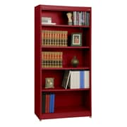"Sandusky® Elite 36"" x 18"" x 72"" Steel Radius Edge Stationary Bookcase, Red"