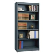 Sandusky® Elite 36in. x 18in. x 72in. Steel Radius Edge Stationary Bookcase, Charcoal