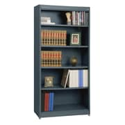 "Sandusky® Elite 36"" x 18"" x 72"" Steel Radius Edge Stationary Bookcase, Charcoal"
