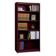 Sandusky® Elite 36in. x 18in. x 72in. Steel Radius Edge Stationary Bookcase, Burgundy