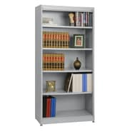 Sandusky® Elite 36in. x 18in. x 72in. Steel Radius Edge Stationary Bookcase, Dove Gray