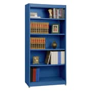 "Sandusky® Elite 36"" x 18"" x 72"" Steel Radius Edge Stationary Bookcase, Blue"