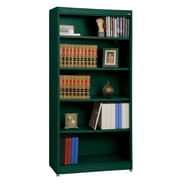 Sandusky® Elite 36in. x 18in. x 72in. Steel Radius Edge Stationary Bookcase, Forest Green