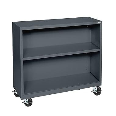 Sandusky® Elite 36in. x 18in. x 36in. Welded Mobile Bookcase, Charcoal