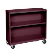 Sandusky® Elite 36 x 18 x 36 Welded Mobile Bookcase, Burgundy