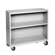 "Sandusky® Elite 36"" x 18"" x 36"" Welded Mobile Bookcase, Dove Gray"