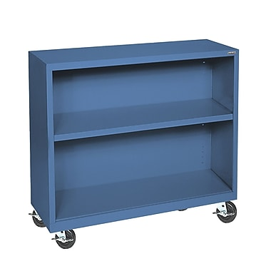 Sandusky® Elite 36in. x 18in. x 36in. Welded Mobile Bookcase, Blue