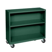 Sandusky® Elite 36 x 18 x 36 Welded Mobile Bookcase, Forest Green