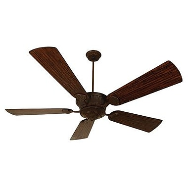 Craftmade DC Epic 70'' Ceiling Fan w/Dark Oak Blades in Aged Bronze; Aged Bronze w/Dark Oak Blades