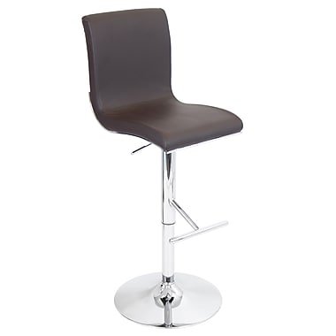 LumiSource® Spago Leatherette Barstool, Brown