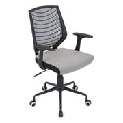 LumiSource® Network Padded Office Chair, Black/Silver