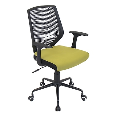 LumiSource® Network Padded Office Chair, Green/Black