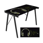 LumiSource® Tempered Glass Headphone Music Exponent Desk, Artistic Print