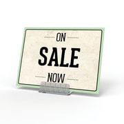 """Deflecto® Angled Tabletop Plastic Sign Holder, 0.5"""", 10/Pack"""