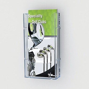 Deflect-o® Lit Loc® Interlocking Display System Leaflet Holder, Clear