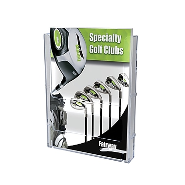 Deflect-o® Lit Loc® Interlocking Display System Magazine Holder, Clear