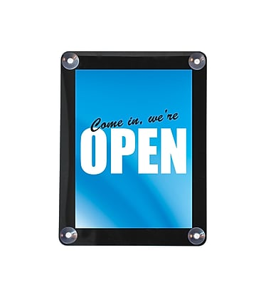 """""Deflect-O Plastic Double Sided Window Display with Suction Cups , 11"""""""" x 8.5"""""""""""""" 556971"