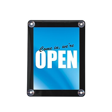 Deflecto® Plastic Double Sided Window Display with Suction Cups , 11