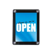 "Deflect-O Plastic Double Sided Window Display with Suction Cups , 11"" x 8.5"""