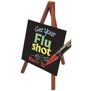 "Deflecto® Wood Wet-Erase Easel Sign , 9.5"" x 5.88"", 3/Pack"